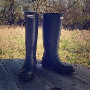 Green Hunter Boots EUC